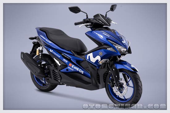 Gambar Yamaha Aerox 155 R-Version Movistar