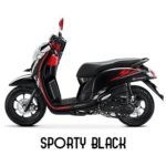 Warna Honda Scoopy Sporty Black