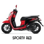 Warna Honda Scoopy Sporty Red