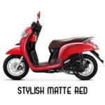 Warna Honda Scoopy Stylish Matte Red