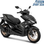 Warna Yamaha Aerox S-Version Hitam
