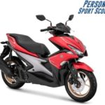Warna Yamaha Aerox S-Version Merah