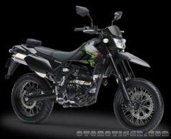 Warna Kawasaki D-Tracker X Hitam