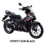 Warna Honda Supra GTR 150 Sporty Gun Black