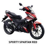 Warna Honda Supra GTR 150 Sporty Spartan Red