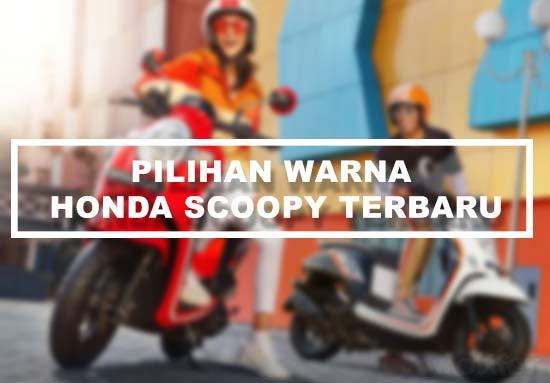 Pilihan Warna Honda Scoopy
