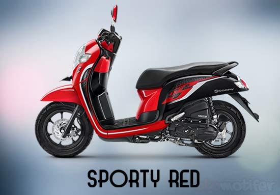 Warna Honda Scoopy Merah