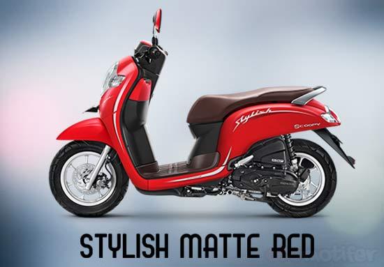 Warna Motor Scoopy Merah
