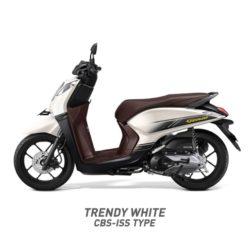 Warna Motor Honda Genio Putih Hitam